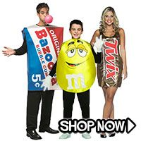 Candy Group Costumes via TrendyHalloween.com #trendyhalloween #halloween #halloweencostumes #costumes #candycostumes