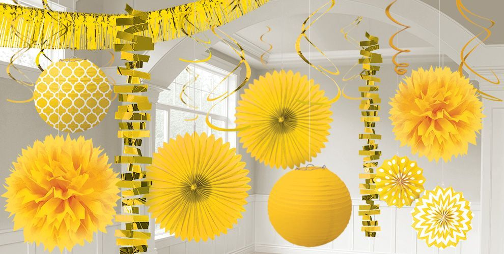 Sunshine Yellow Decorations