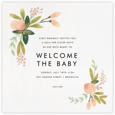 Baby shower invitations online and paper Paperless Post Mother