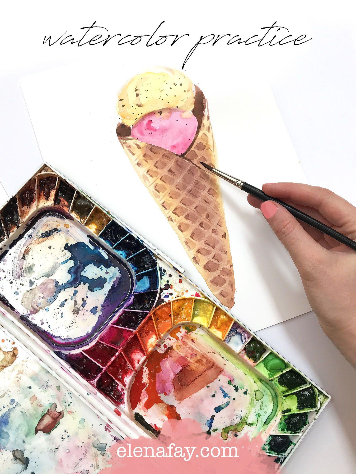 Watercolor Practice Painting Sweet Treats Watercolour