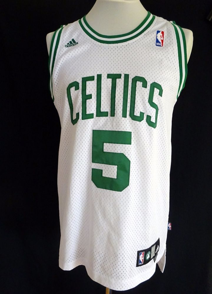 5344bdbc67f9 ... official store nba adidas kevin garnett boston celtics jersey stitched  letters white size s 2 adidas