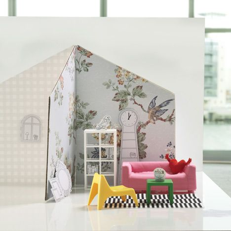 IKEAu0027s Dollsu0027 House Furniture Collection Includes Miniatures Of Some Of Its  Most Popular Products, Including The Klippan Sofa, Lack Table, Expedit U2026