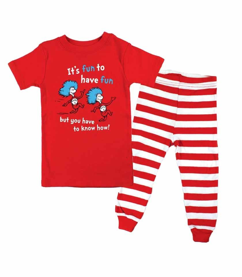 Dr. Seuss Thing 1 and Thing 2 Infant Pajama Set  d21ca249c