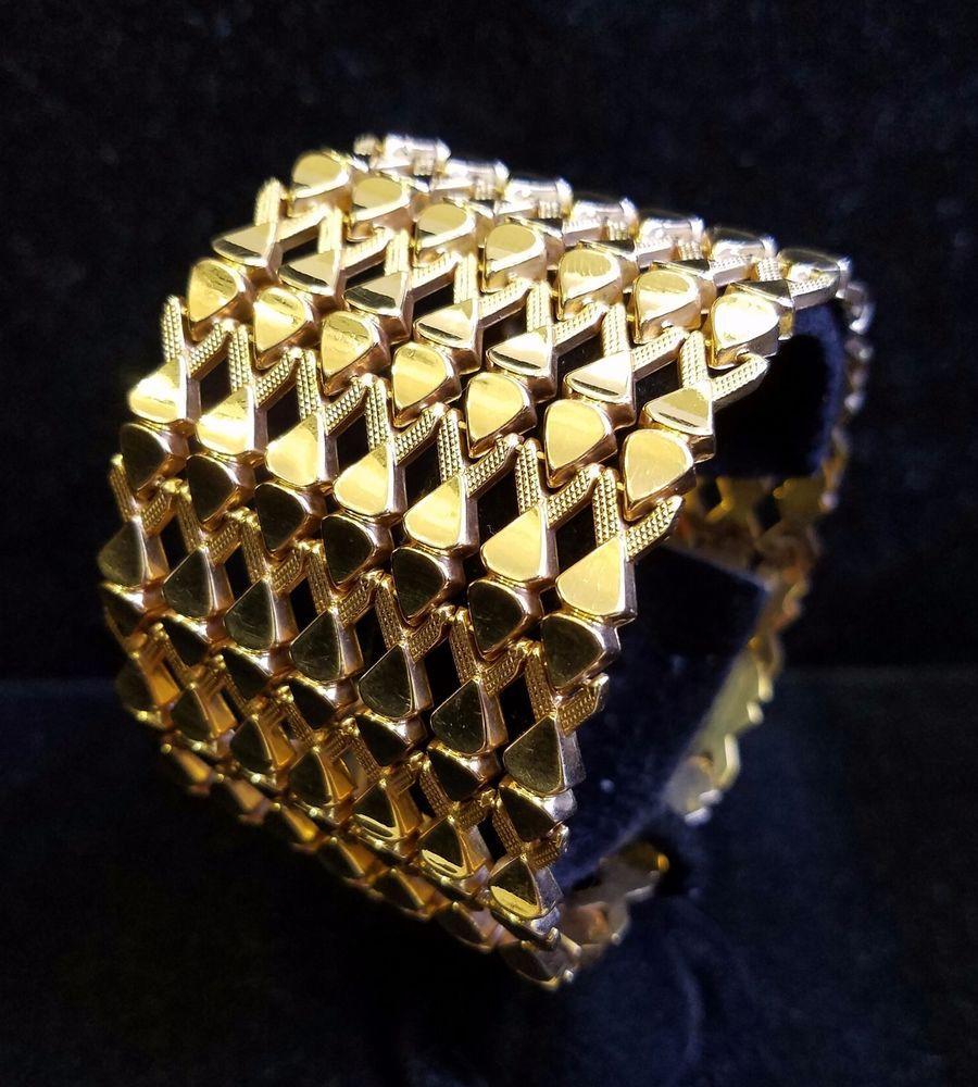 Stunning k rose gold vintage retro s ribbon bracelet gram