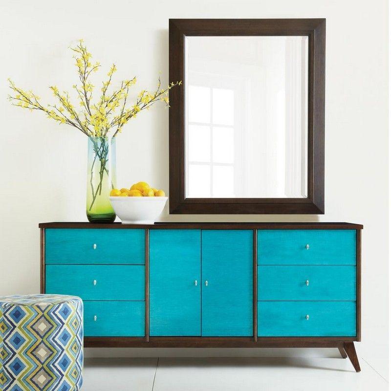 alte kommode aufpeppen azurblaue farbe kommode. Black Bedroom Furniture Sets. Home Design Ideas