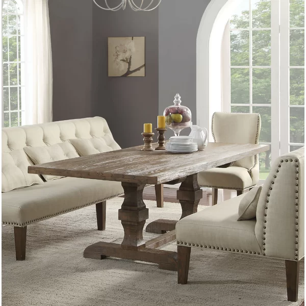 Locksley Dining Table Solid Wood Dining Table Wood Dining Table Pedestal Dining Table