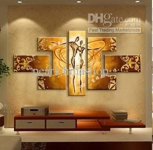 Pure Hand Painted Oil Painting Living Room Modern Abstract Art Love Dance