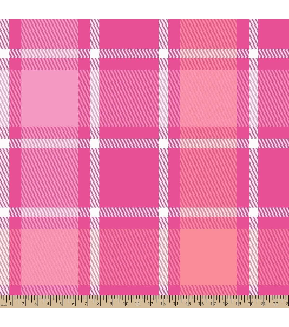 Blizzard fleece fabricbruno plaid pink pink fabrics and fleece