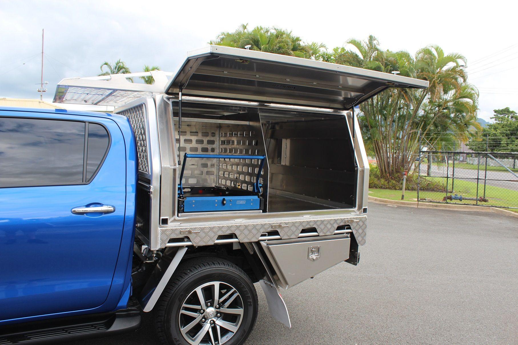 Toyota Hilux Aluminium Canopy & Toyota Hilux Aluminium Canopy | Slide on campers | Pinterest ...