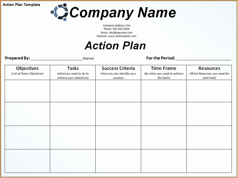 30 Career Action Plan Template in 2020 Marketing plan