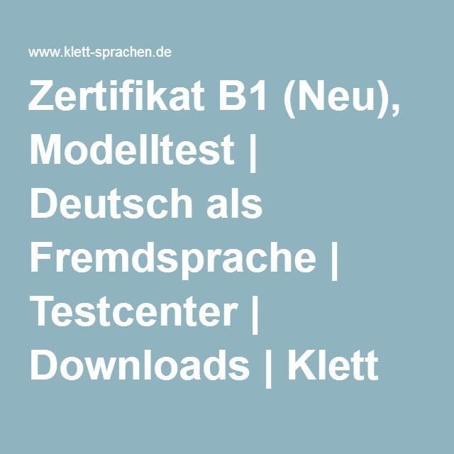 zertifikat b1 neu modelltest deutsch als fremdsprache testcenter downloads klett. Black Bedroom Furniture Sets. Home Design Ideas