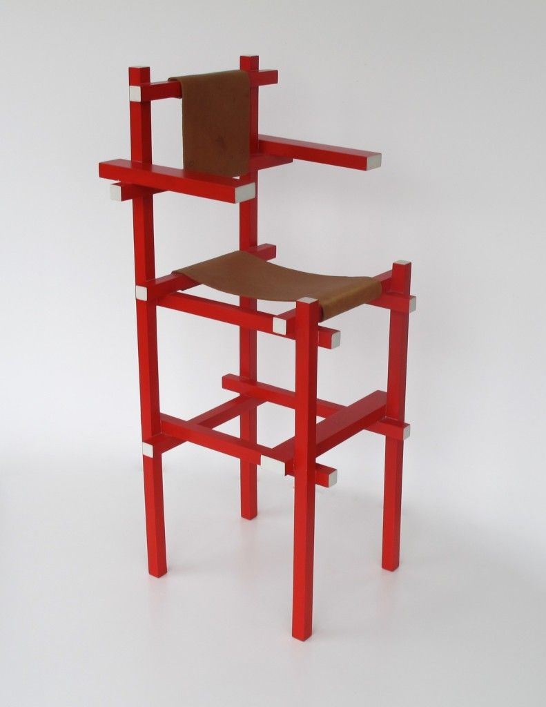 1970's - Rietveld, Gerrit - High childrenchair, construction: Gerard van de Groenekan