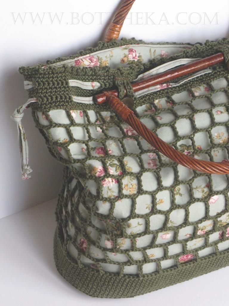 Virágháló táska | Botthéka