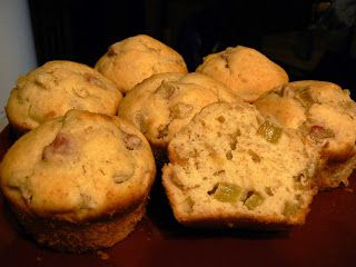 Le palais gourmand: Muffins à la rhubarbe