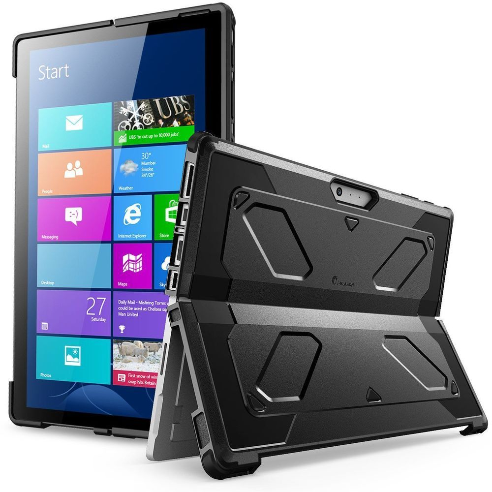 Microsoft Surface Pro 4 Case Kickstand Rugged Hard Shell