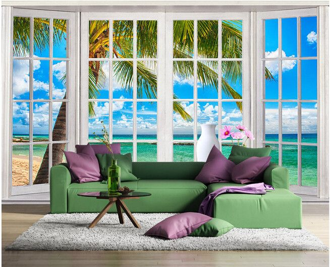 Günstige Freies verschiffen 3D großen wandbild wohnzimmer ...