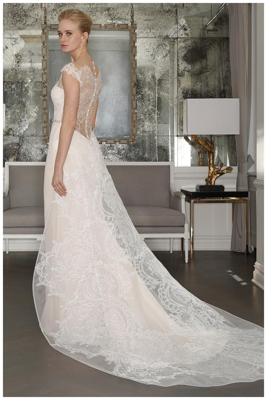 Wedding dress by Romona Keveza Collection from the Spring 2017 collection. Image courtesy of Romona Keveza.
