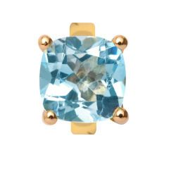 Endless Gold Charm in a Sky Topaz Design,25452, Each piece comes in a presentation box.