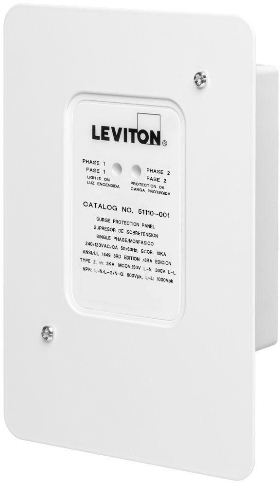 Leviton 120 240 Volt Residential Whole House Electrical Spike Surge Protector Leviton Leviton Surge Protection Surge Protector
