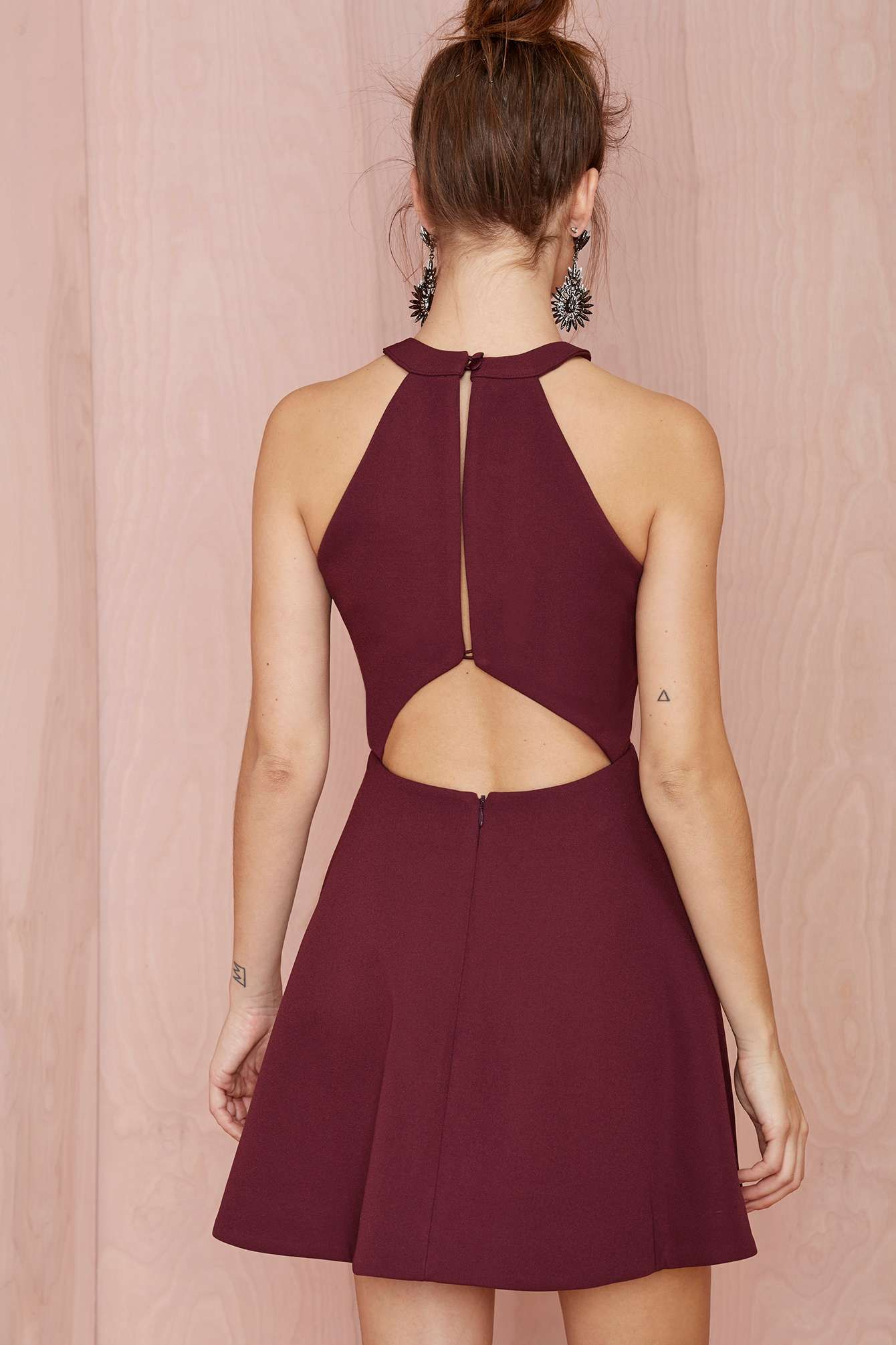 Keepsake Adore You Cutaway Dress Sports Banquet Dresses Party Dresses Short Cocktail Burgundy Party Dress Short