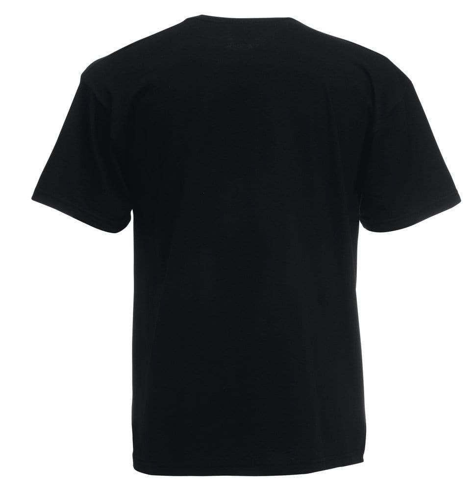 Premium Quality T-Shirt Schwarz - Fruit of the Loom SC210 - Größe: L