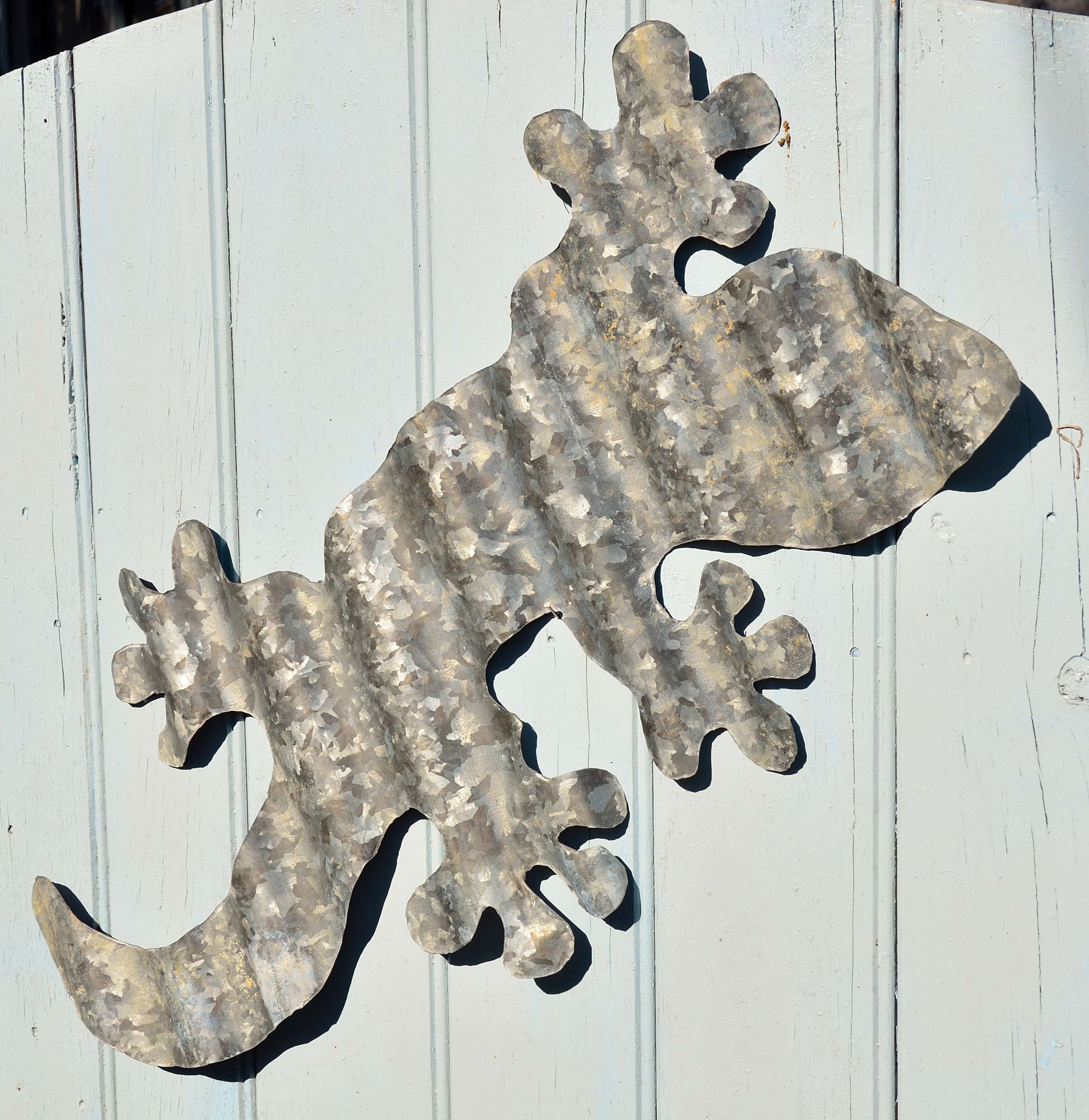 Lizard From Recycled Corrugated Iron