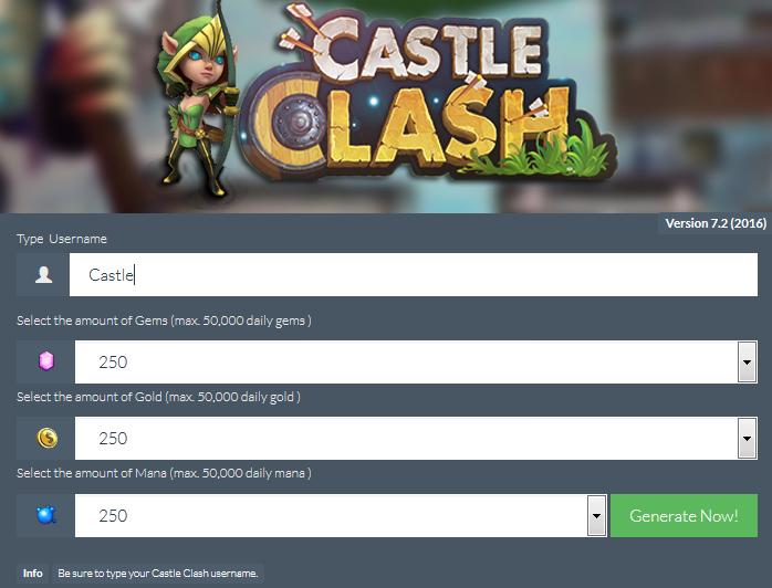 Castle Clash Hack Cheats Tool Castle Clash Hack Castle Clash Castle