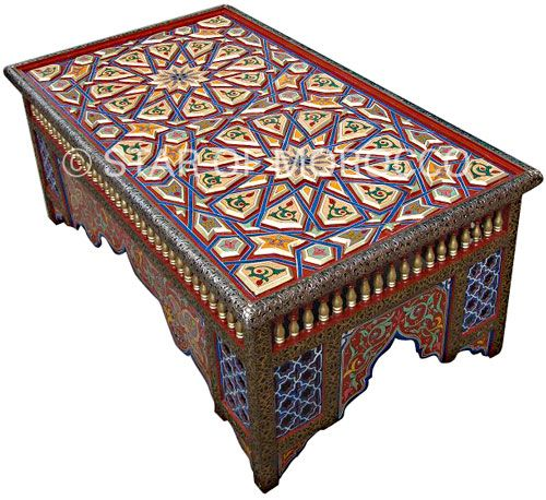 Moroccan Style Coffee Tables Hand Painted Table Moroccan