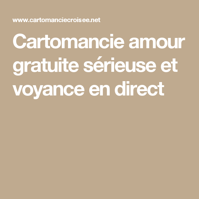 Cartomancie amour gratuite sérieuse et voyance en direct   Tarot ... fe96c190c68e