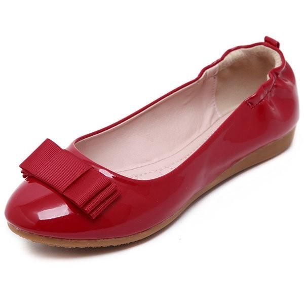 Bowknot Slip Color On Candy Color Slip Flat Folded Egg Roll Zapatos Pinterest 8dd709