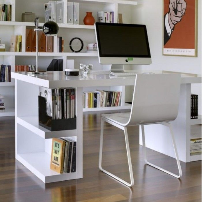 un beau bureau blanc pour votre ado design et pur il. Black Bedroom Furniture Sets. Home Design Ideas