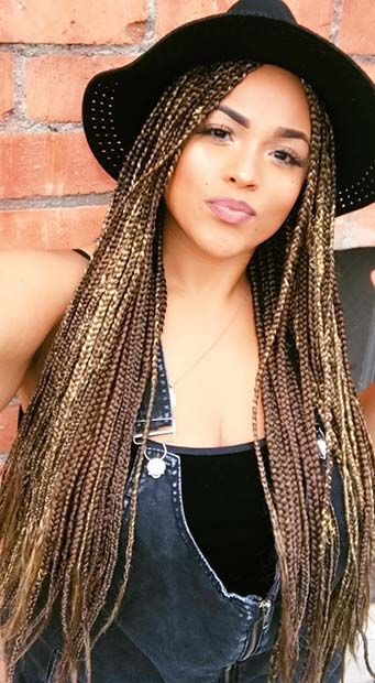 23 Pretty Box Braids With Color For Every Season With