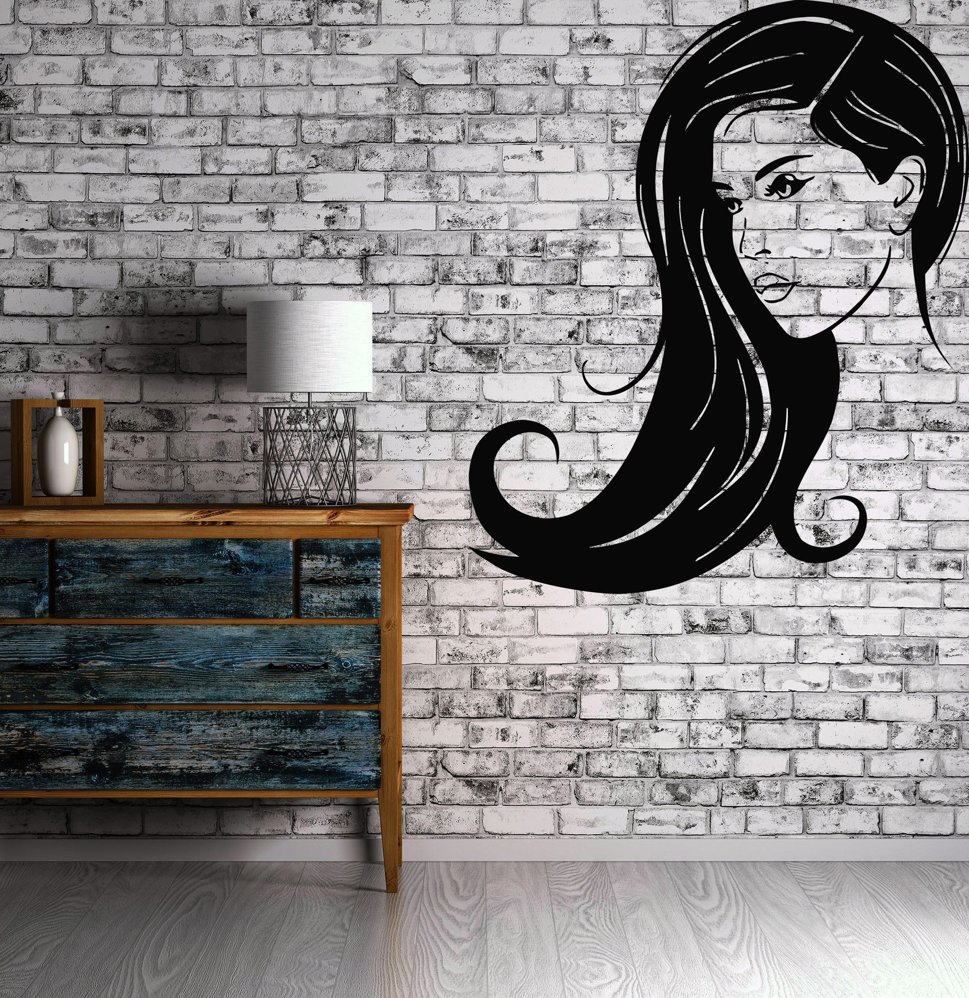 Arte Salon & Spa Hot Sexy Girl Woman Beauty Salon Spa Mural Wall Art Decor Vinyl