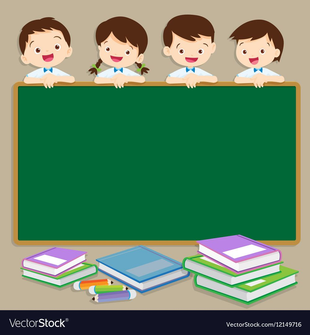 Cute student post smile on a chalkboard vector image on ...