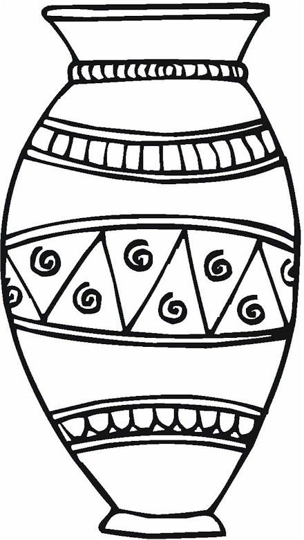 Vase Pottery Coloring Page Flower Coloring Pages Coloring