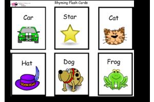 Rhyming Word Flash Cards | Rhyming words | Rhyming words ...