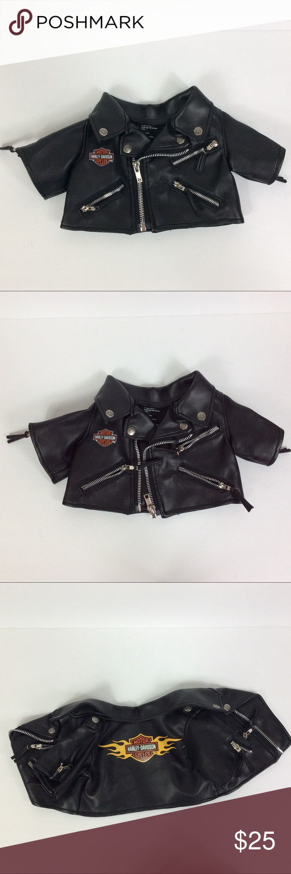 Harley Davidson Infant Baby Faux Leather Jacket Faux