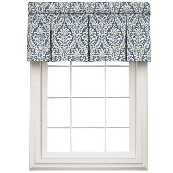 Waverly Donnington Rod Pocket Box Pleated Valance