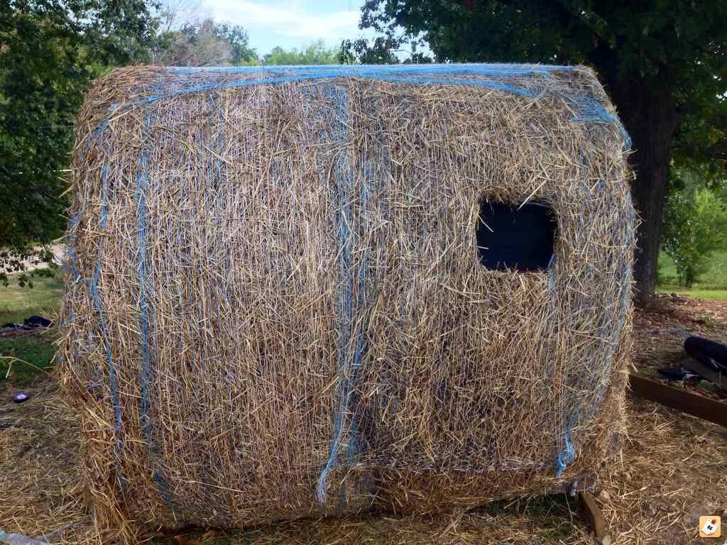 Homemade Hay Bale Deer Blind Homemade Ftempo