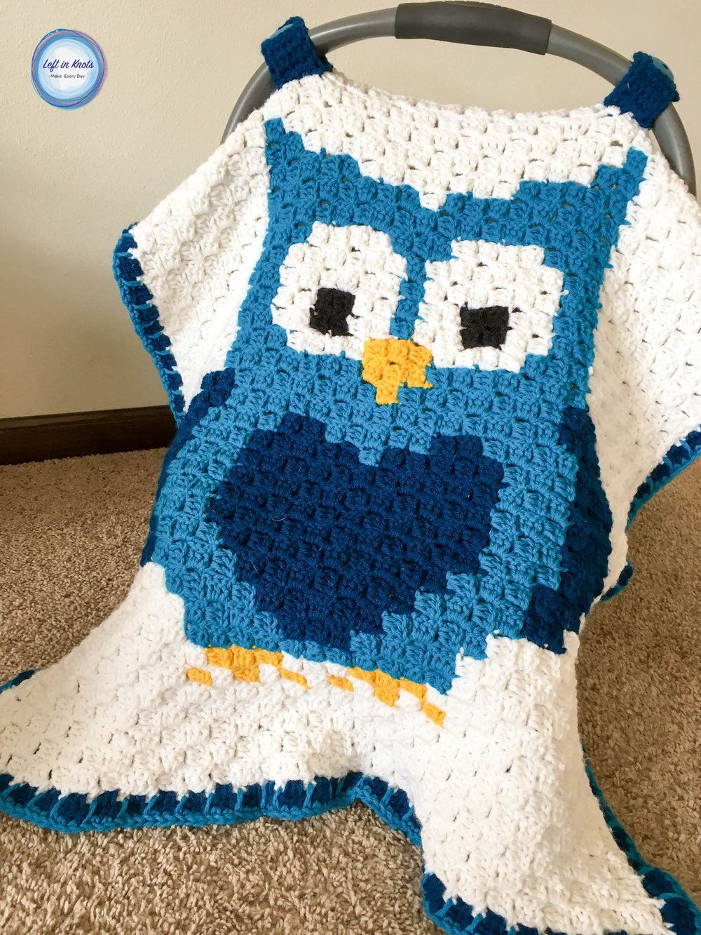 Owl car seat canopy car seat canopy car seats and canopy crochet blankets use the c2c crochet technique to make a personalized car seat canopy with this free pattern bankloansurffo Images