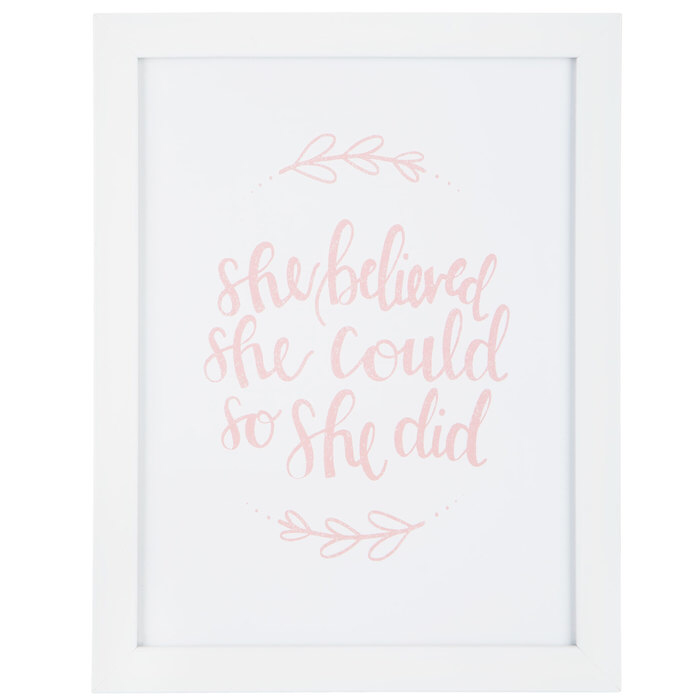 She Believed She Could Framed Wall Decor Hobby Lobby 1298264 Frames On Wall Hobby Lobby Wall Decor Wall Decor Online