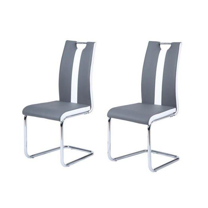Redoutable chaise blanche et grise d coration fran aise for Chaise salon grise