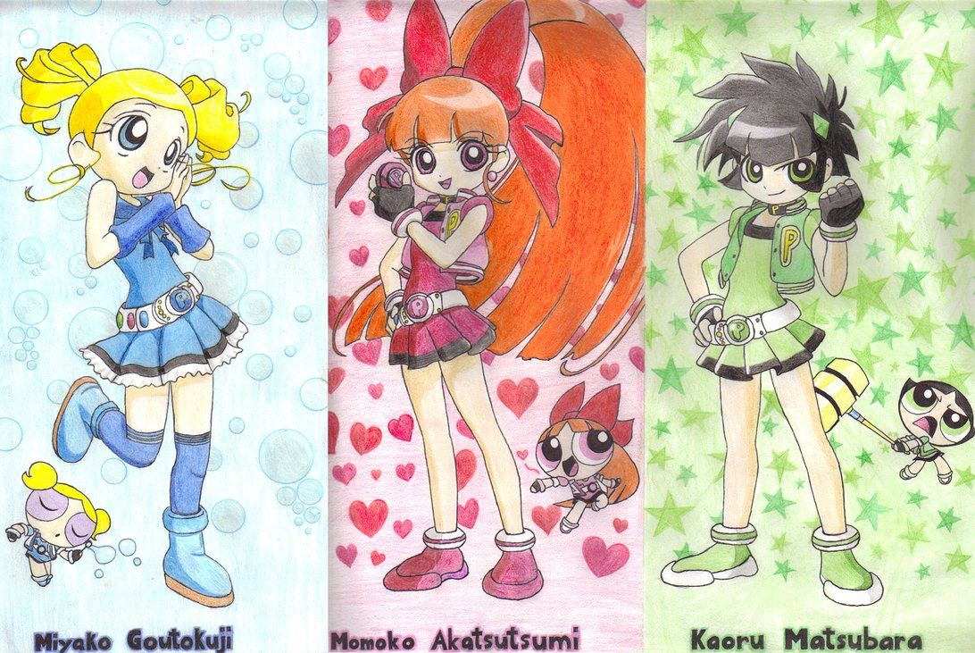 Z Characters Anime : Powerpuff girls anime z by spine shank