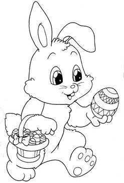 Easter Bunny Coloring Page Desenhos De Pascoa Coelhinho Da