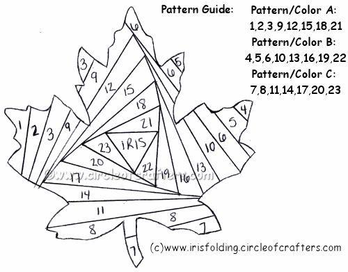 free maple leaf pattern