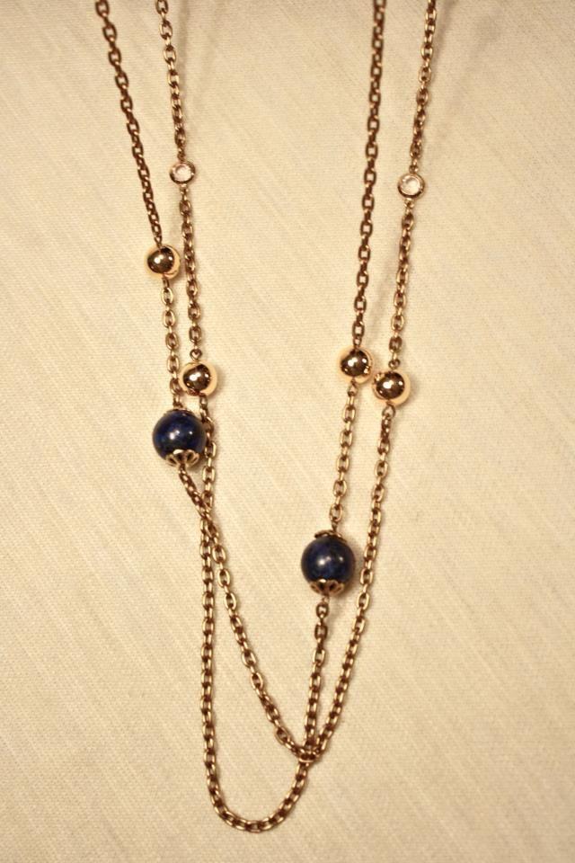 8790a89af1d0 Bizancio II  Collar largo con cadena metálica dorada