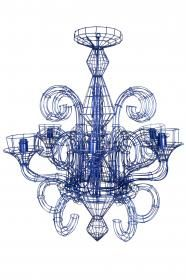 Quirky Blue Modern Wire Chandeliers From Fenton Amp Fenton