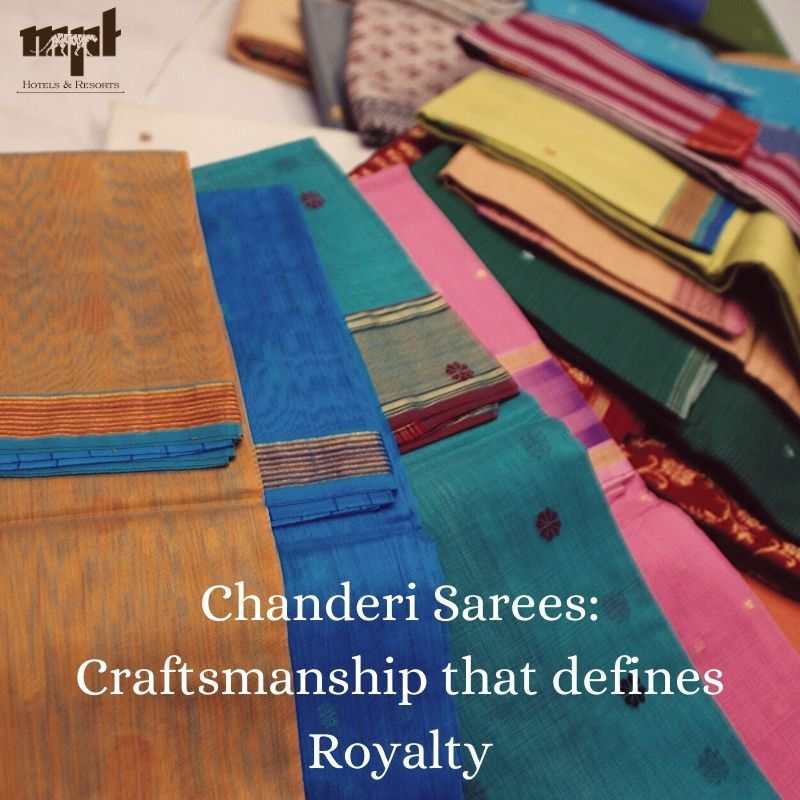 Embellished with beautiful motifs and an intricate zari border, the traditional #Chanderi sarees were the preferred attire for the #royal houses of #Baroda, #Indore, #Gwalior and #Nagpur during the royal era. While you are here in Chanderi for your ultimate shopping experience, Book a stay at MPT Tana Bana for a comfortable stay. #IncredibleIndia #MPTourism #HeartOfIndia #ChanderiSarees  Book Now : www.mpstdc.com or Call : 18002337777