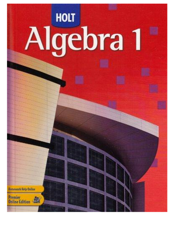 Made by Teachers: Go Hrw Com Algebra
