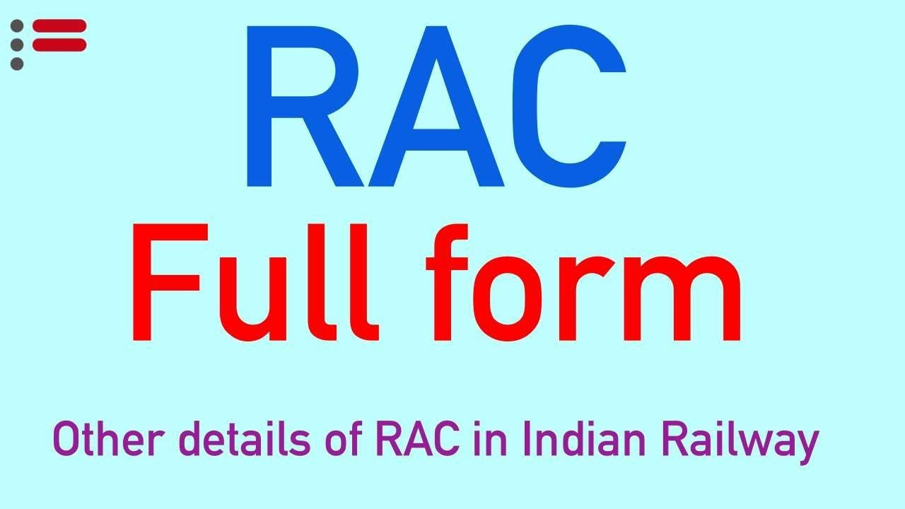 Rac meaning railway